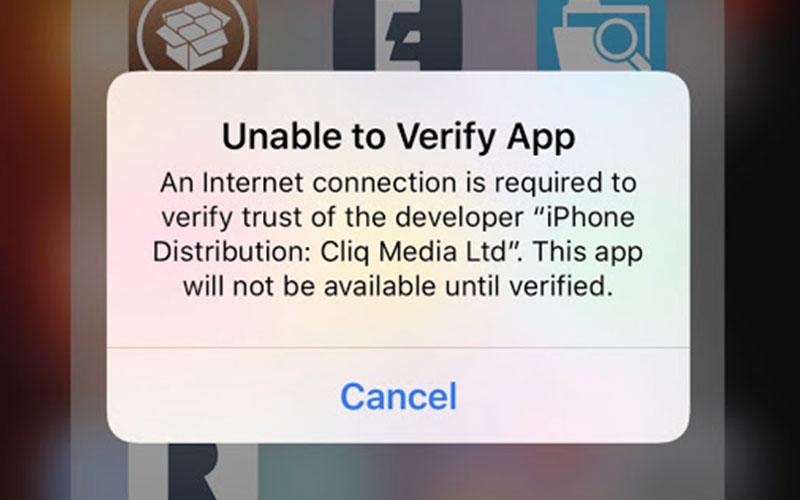 رفع خطای Unable to verify app در آیفون | حل مشکلات کامپیوتر و موبایل